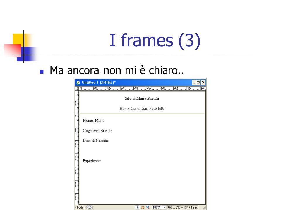 I frames (3) Ma ancora non mi è chiaro..