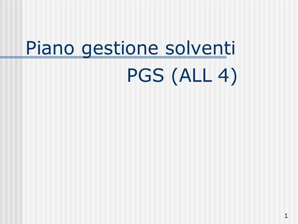 1 Piano gestione solventi PGS (ALL 4)