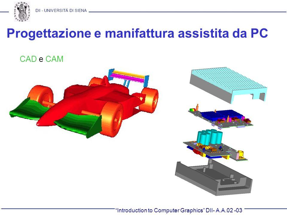 Introduction to Computer Graphics DII- A.A.02 -03 Progettazione e manifattura assistita da PC CAD e CAM
