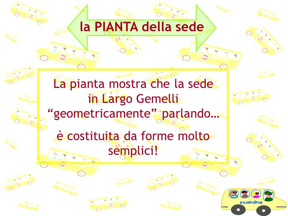 La pianta mostra che la sede in Largo Gemelli geometricamente parlando… è costituita da forme molto semplici! la PIANTA della sede