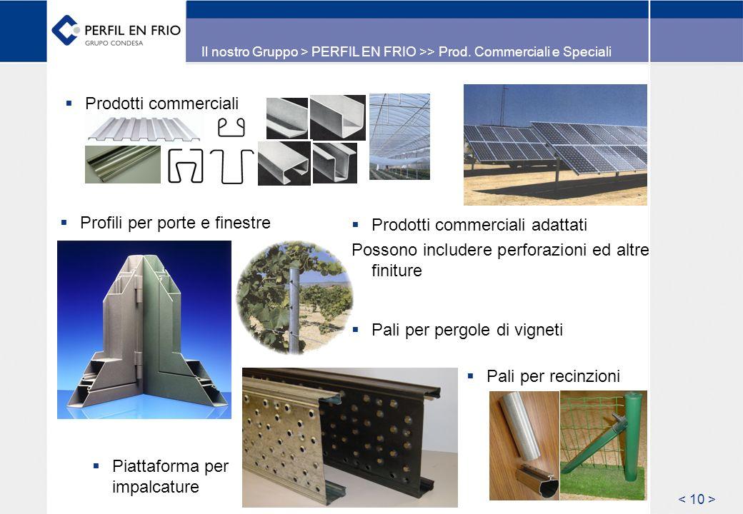 Il nostro Gruppo > PERFIL EN FRIO >> Prod.