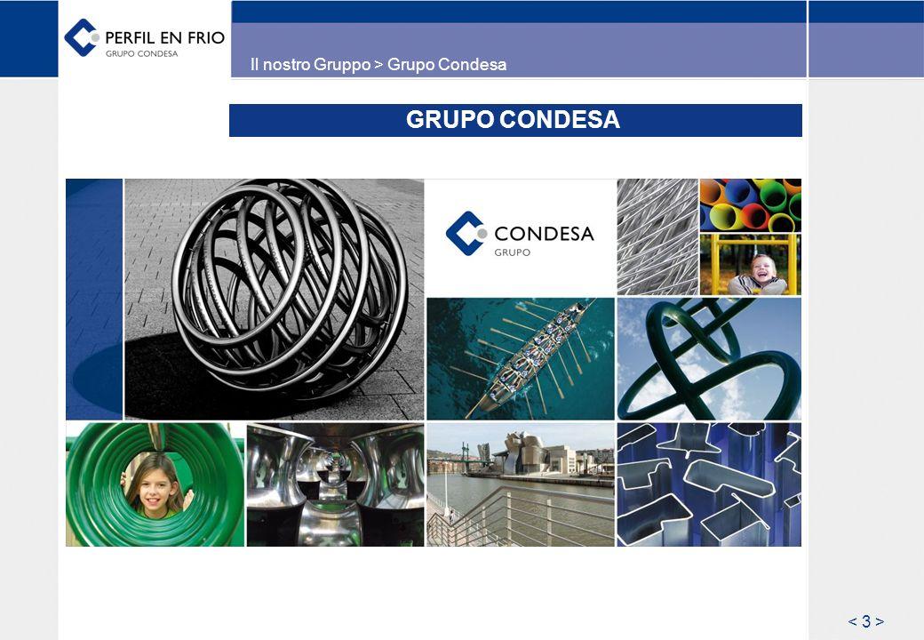 IL GRUPO CONDESA – Numeri chiave Impresa familiare situata a Vitoria (Spagna del nord), da 60 anni sul mercato della trasformazione siderurgica come fabbricante di tubi e profili in acciaio saldati.