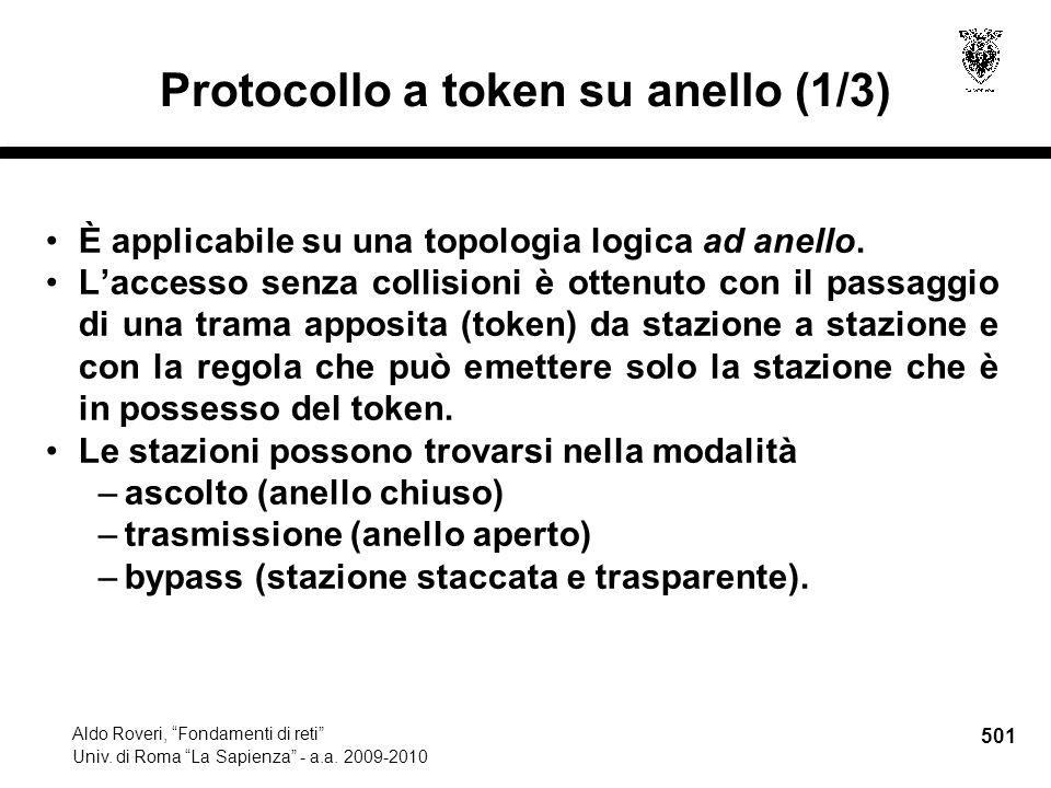 501 Aldo Roveri, Fondamenti di reti Univ. di Roma La Sapienza - a.a.