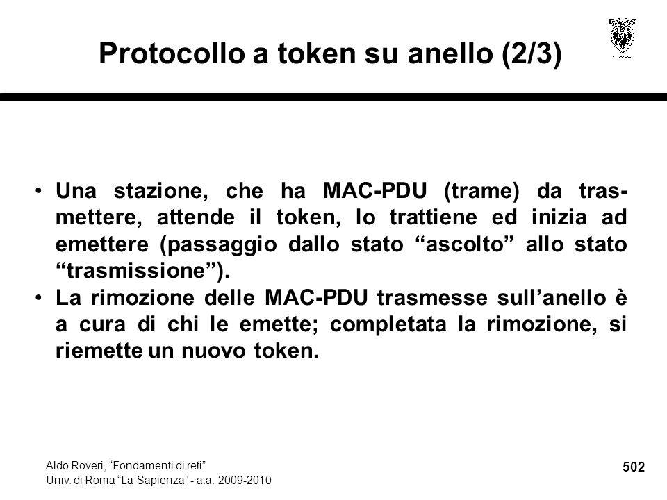 502 Aldo Roveri, Fondamenti di reti Univ. di Roma La Sapienza - a.a.