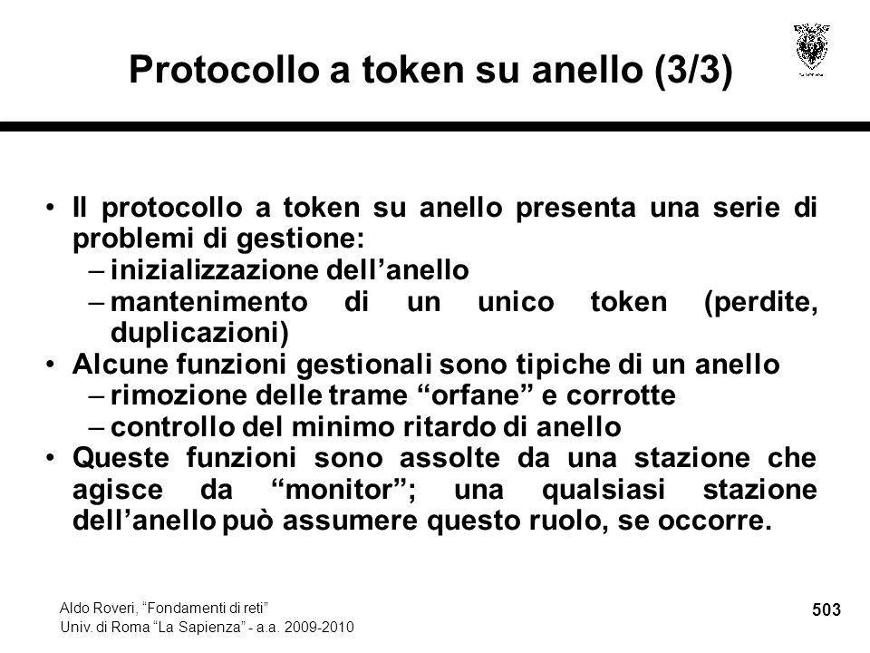 503 Aldo Roveri, Fondamenti di reti Univ. di Roma La Sapienza - a.a.