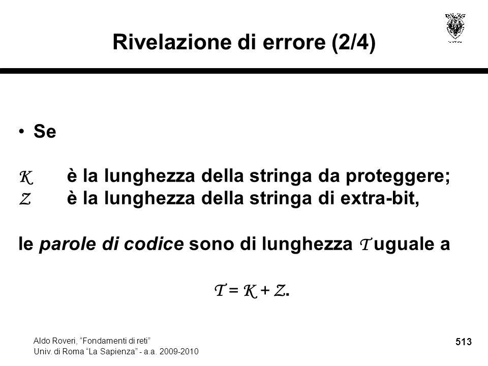513 Aldo Roveri, Fondamenti di reti Univ. di Roma La Sapienza - a.a.