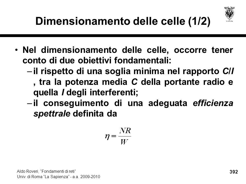 392 Aldo Roveri, Fondamenti di reti Univ. di Roma La Sapienza - a.a.