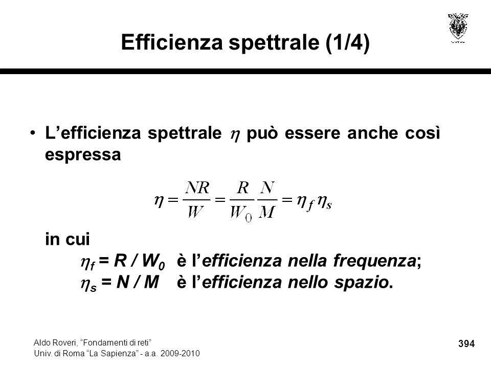 394 Aldo Roveri, Fondamenti di reti Univ. di Roma La Sapienza - a.a.