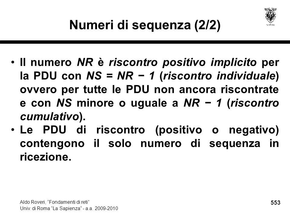 553 Aldo Roveri, Fondamenti di reti Univ. di Roma La Sapienza - a.a.