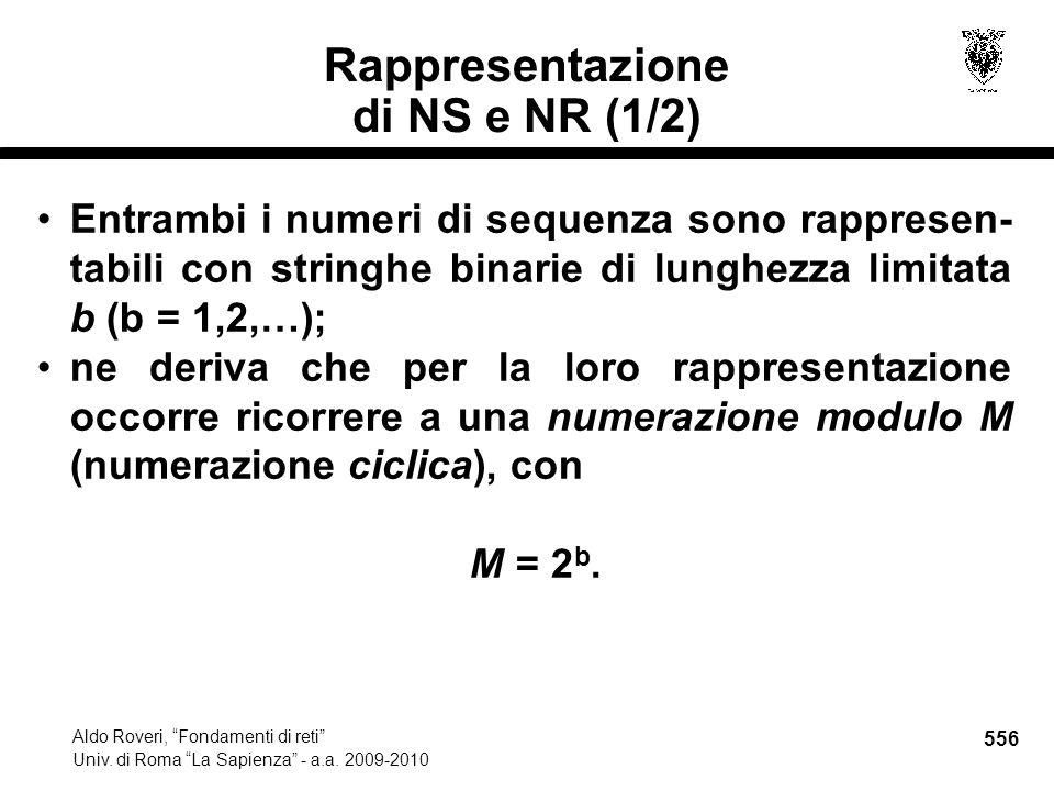 556 Aldo Roveri, Fondamenti di reti Univ. di Roma La Sapienza - a.a.