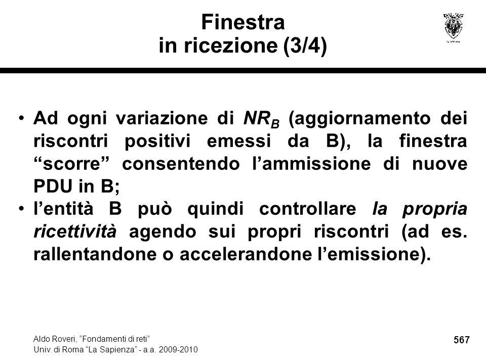 567 Aldo Roveri, Fondamenti di reti Univ. di Roma La Sapienza - a.a.