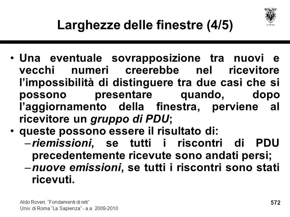 572 Aldo Roveri, Fondamenti di reti Univ. di Roma La Sapienza - a.a.