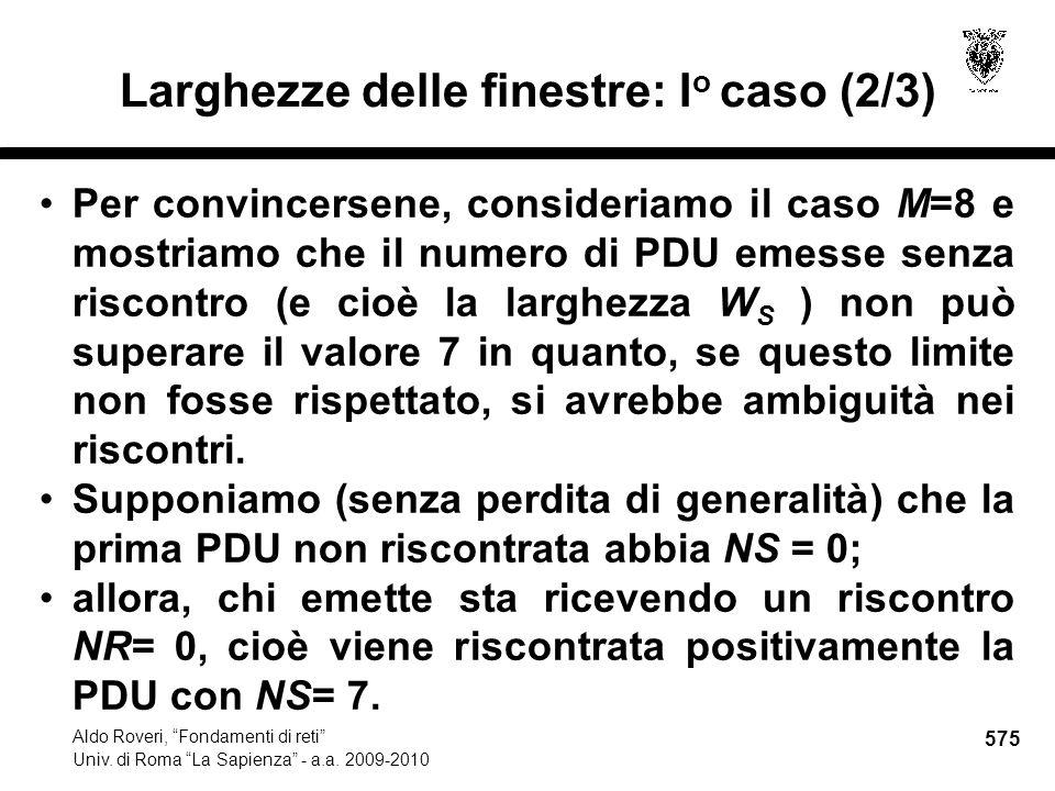 575 Aldo Roveri, Fondamenti di reti Univ. di Roma La Sapienza - a.a.