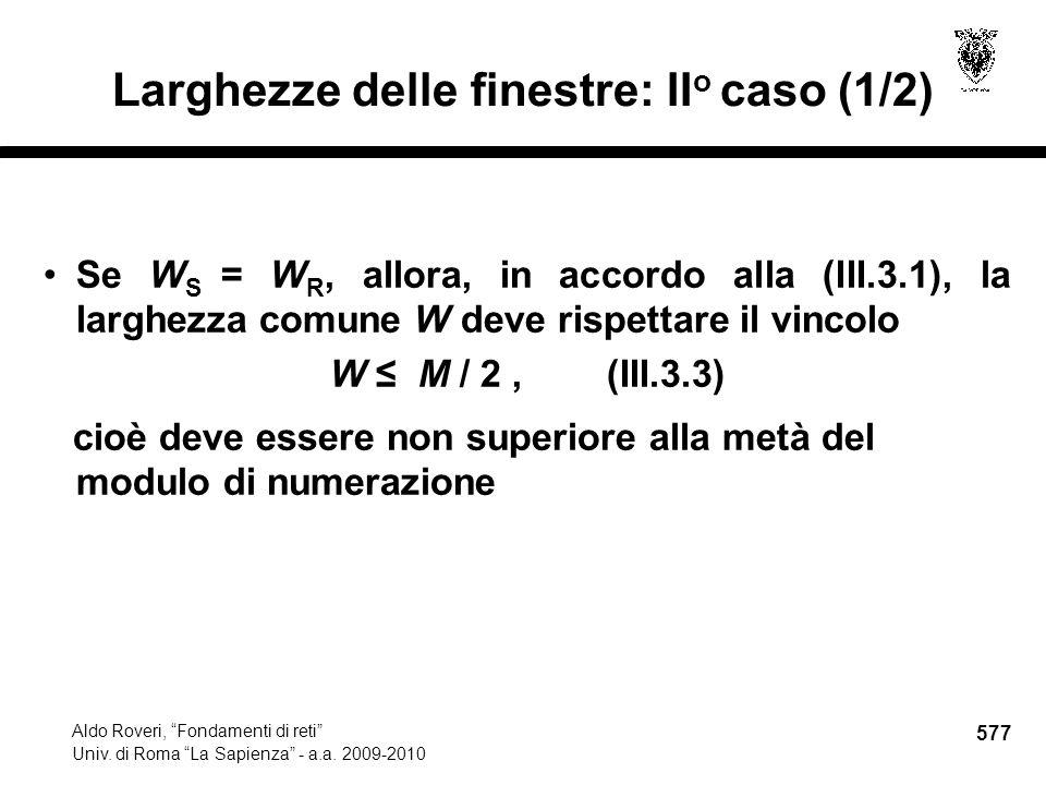 577 Aldo Roveri, Fondamenti di reti Univ. di Roma La Sapienza - a.a.