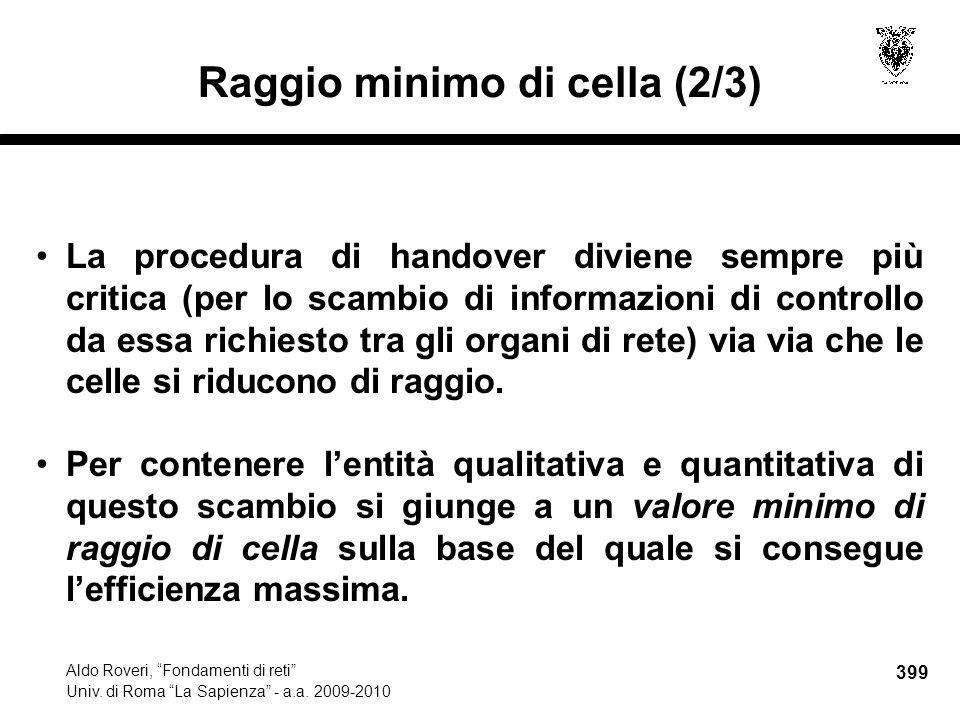 399 Aldo Roveri, Fondamenti di reti Univ. di Roma La Sapienza - a.a.