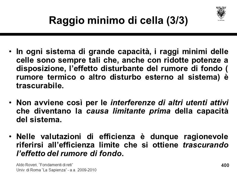 400 Aldo Roveri, Fondamenti di reti Univ. di Roma La Sapienza - a.a.