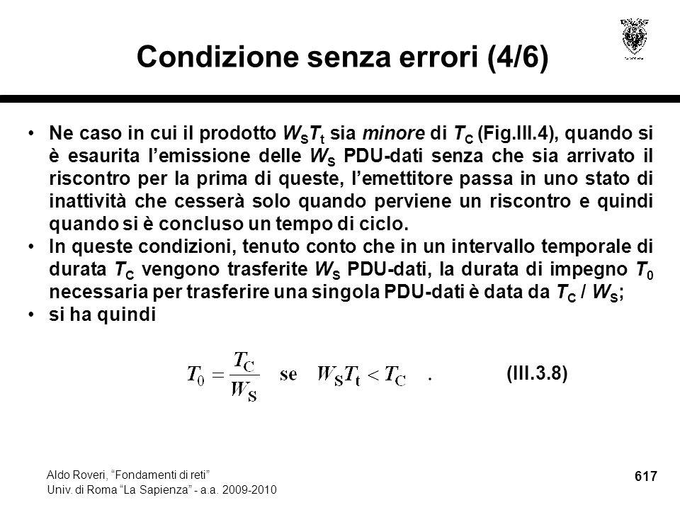 617 Aldo Roveri, Fondamenti di reti Univ. di Roma La Sapienza - a.a.