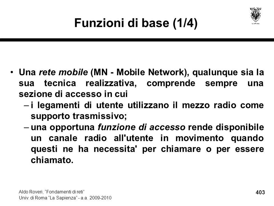 403 Aldo Roveri, Fondamenti di reti Univ. di Roma La Sapienza - a.a.