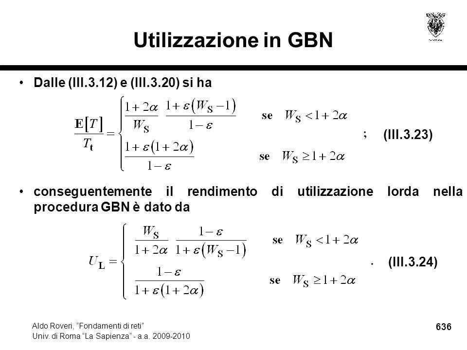 636 Aldo Roveri, Fondamenti di reti Univ. di Roma La Sapienza - a.a.