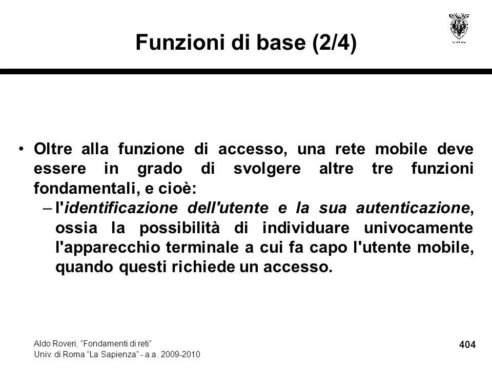 404 Aldo Roveri, Fondamenti di reti Univ. di Roma La Sapienza - a.a.