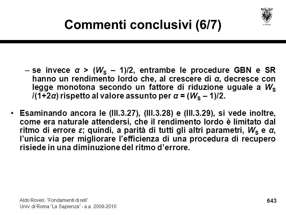 643 Aldo Roveri, Fondamenti di reti Univ. di Roma La Sapienza - a.a.