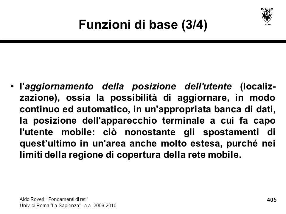 405 Aldo Roveri, Fondamenti di reti Univ. di Roma La Sapienza - a.a.