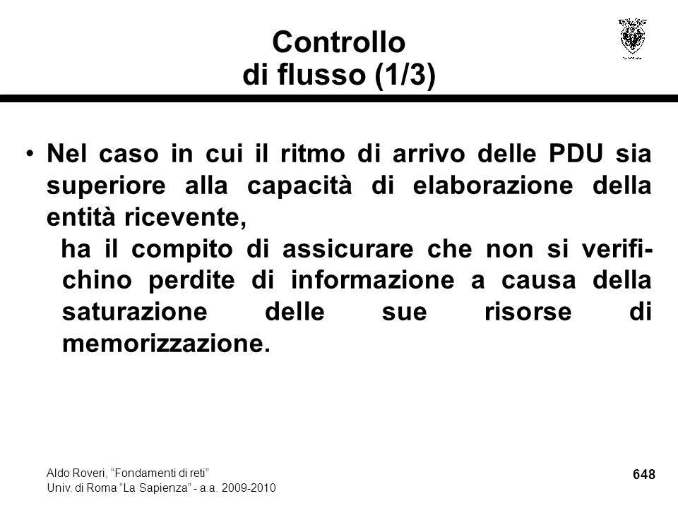 648 Aldo Roveri, Fondamenti di reti Univ. di Roma La Sapienza - a.a.