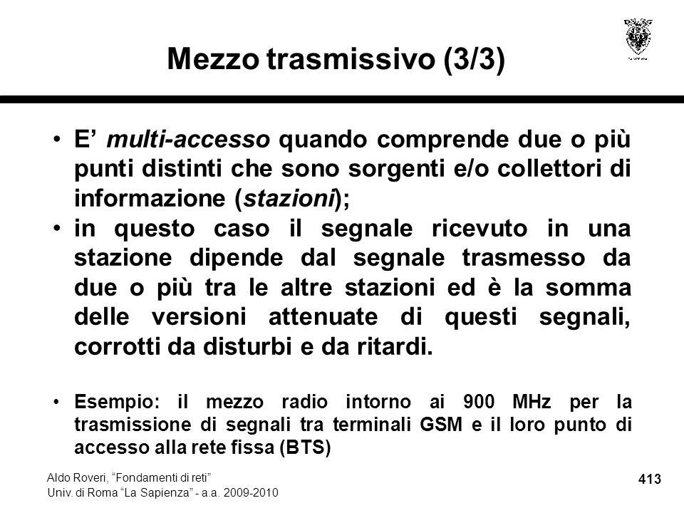 413 Aldo Roveri, Fondamenti di reti Univ. di Roma La Sapienza - a.a.