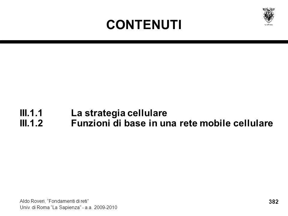 382 Aldo Roveri, Fondamenti di reti Univ. di Roma La Sapienza - a.a.
