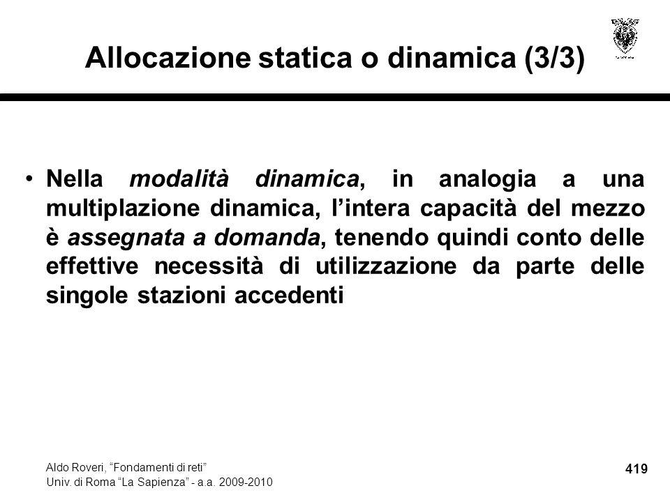 419 Aldo Roveri, Fondamenti di reti Univ. di Roma La Sapienza - a.a.