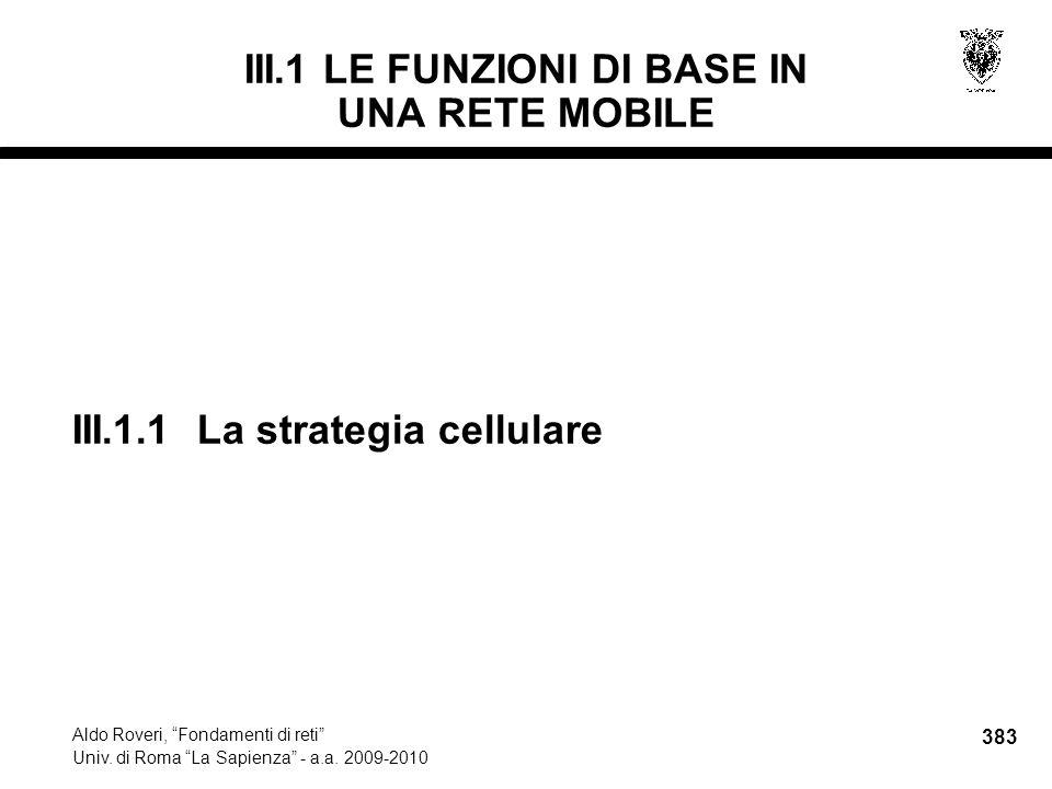 383 Aldo Roveri, Fondamenti di reti Univ. di Roma La Sapienza - a.a.