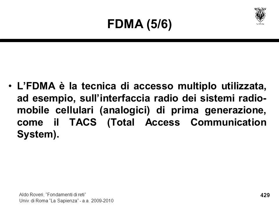429 Aldo Roveri, Fondamenti di reti Univ. di Roma La Sapienza - a.a.