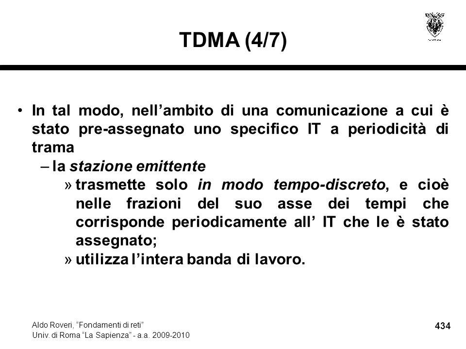 434 Aldo Roveri, Fondamenti di reti Univ. di Roma La Sapienza - a.a.