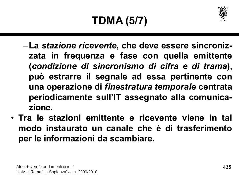 435 Aldo Roveri, Fondamenti di reti Univ. di Roma La Sapienza - a.a.