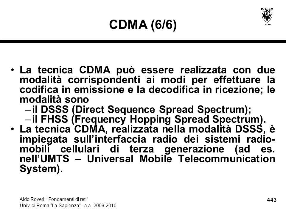 443 Aldo Roveri, Fondamenti di reti Univ. di Roma La Sapienza - a.a.
