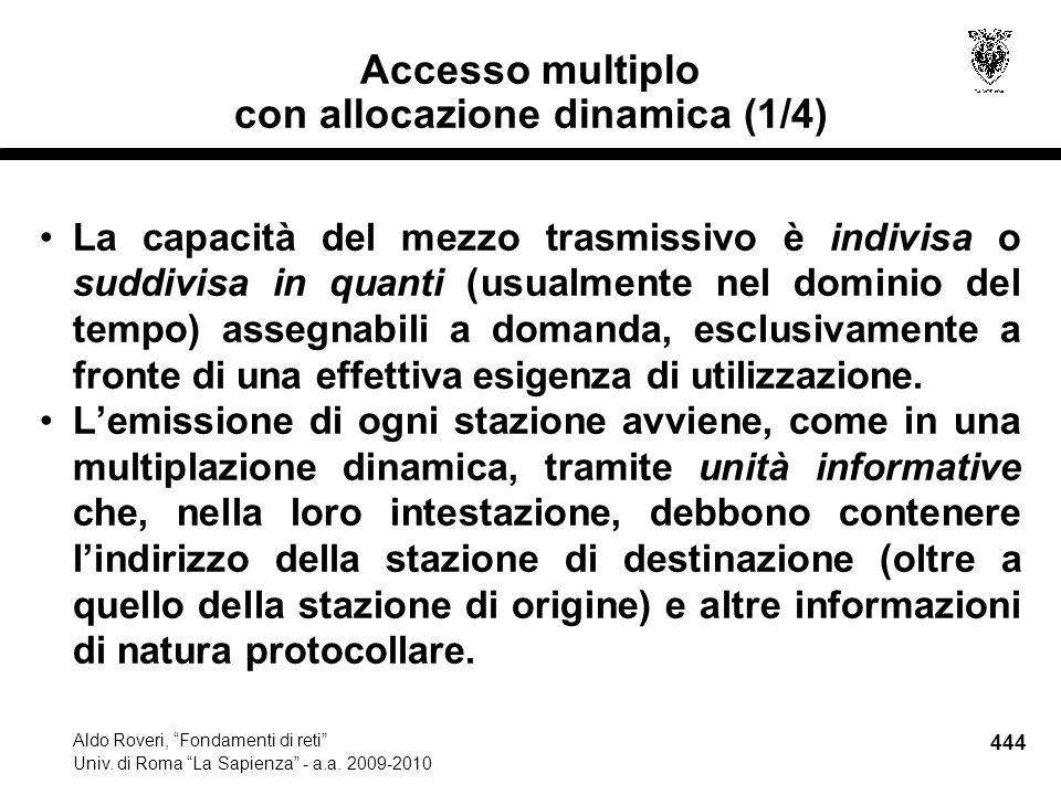 444 Aldo Roveri, Fondamenti di reti Univ. di Roma La Sapienza - a.a.