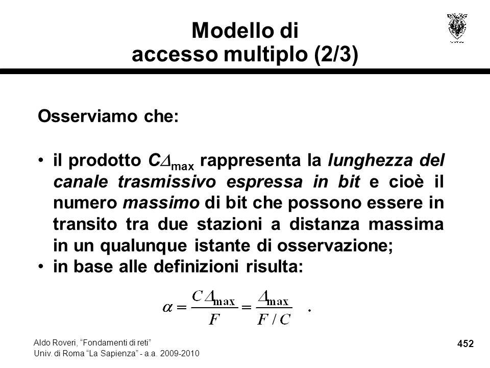 452 Aldo Roveri, Fondamenti di reti Univ. di Roma La Sapienza - a.a.