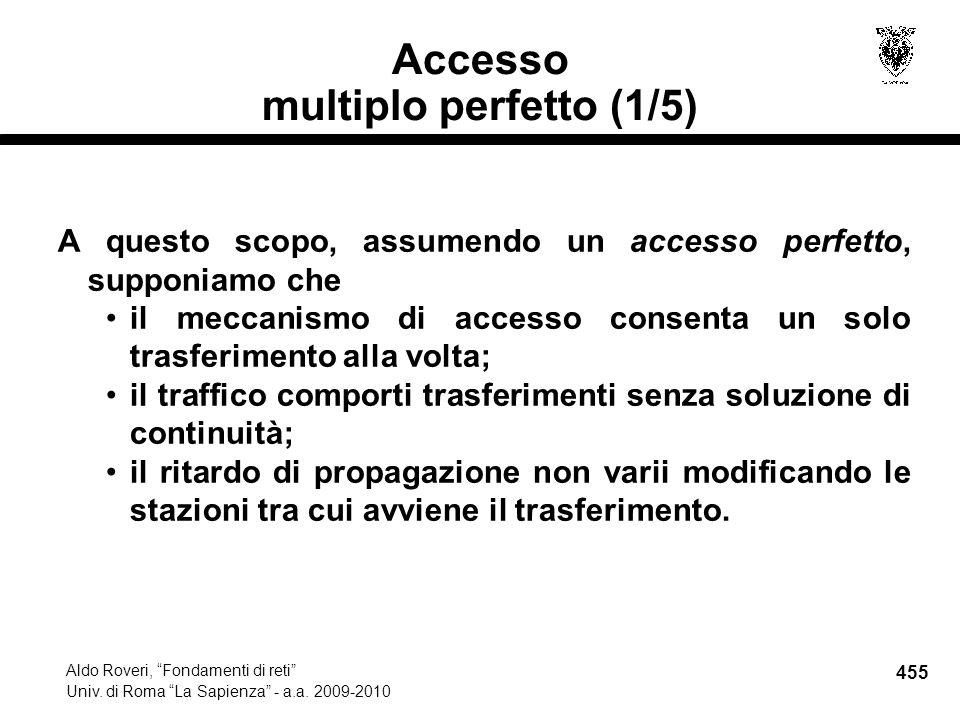 455 Aldo Roveri, Fondamenti di reti Univ. di Roma La Sapienza - a.a.
