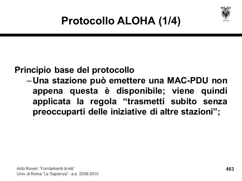 463 Aldo Roveri, Fondamenti di reti Univ. di Roma La Sapienza - a.a.