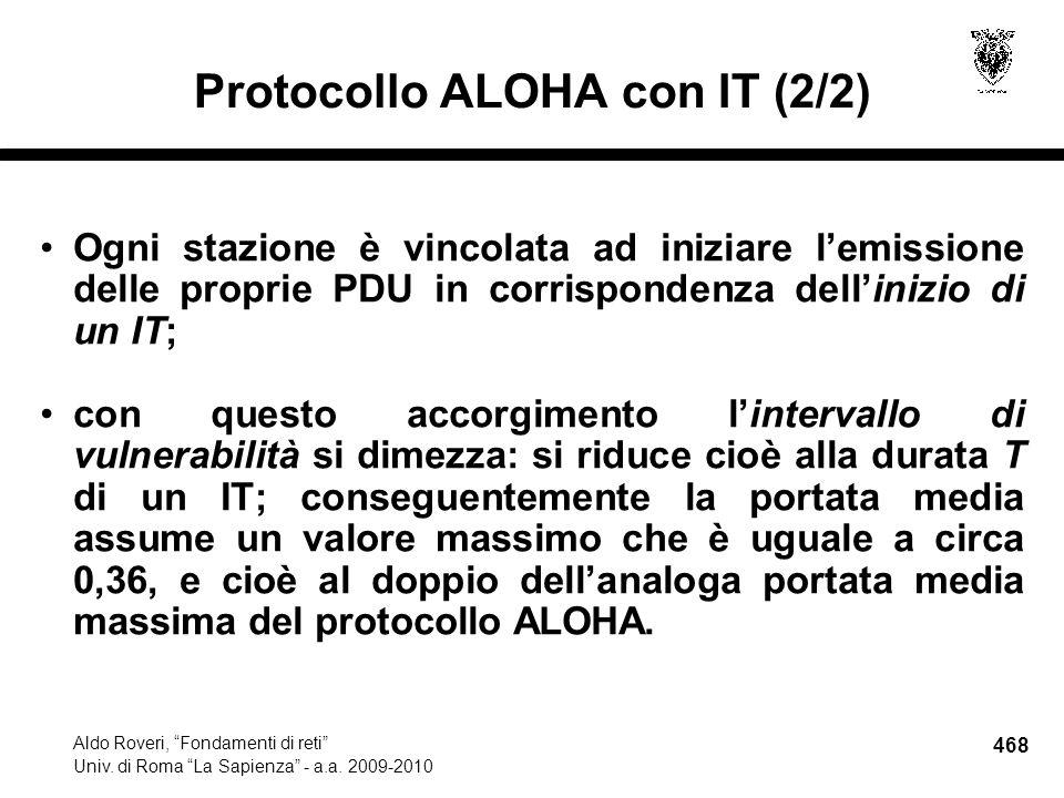 468 Aldo Roveri, Fondamenti di reti Univ. di Roma La Sapienza - a.a.