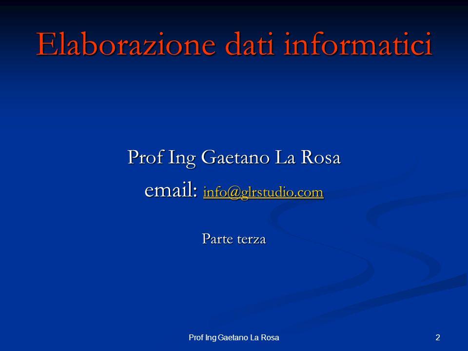 13Prof Ing Gaetano La Rosa Viste Per rimuovere una vista si utilizza DROP VIEW Per rimuovere una vista si utilizza DROP VIEW DROP VIEW imp;