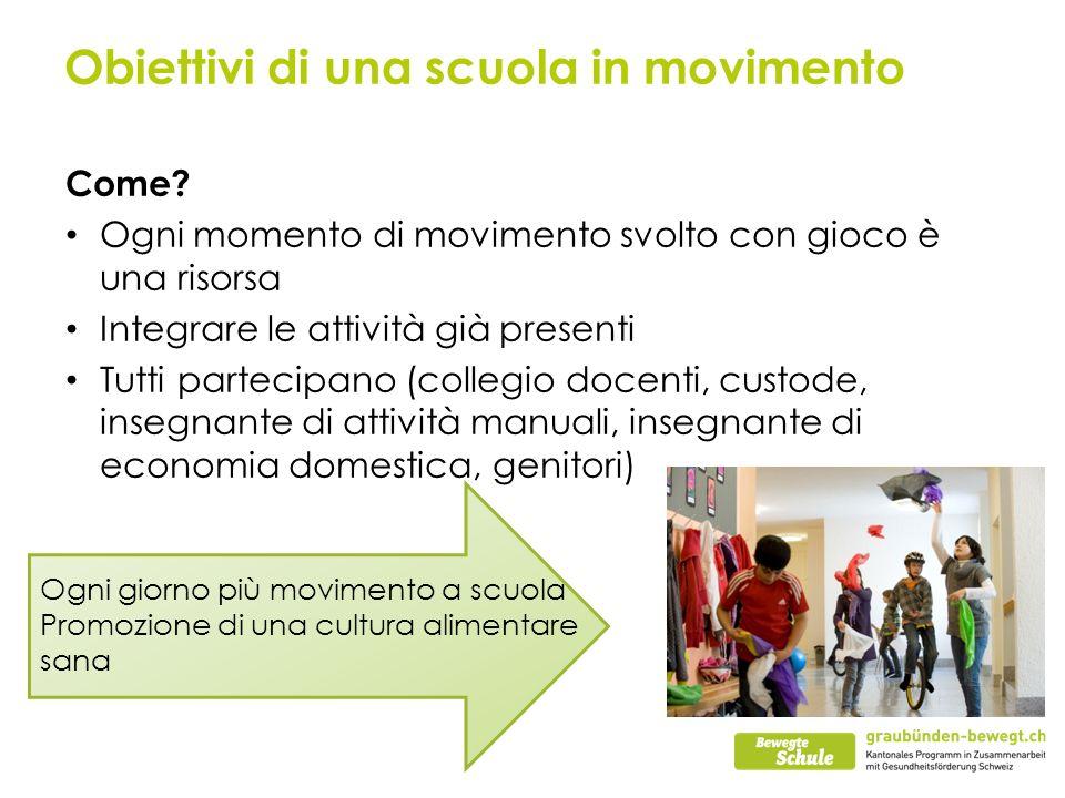 Obiettivi di una scuola in movimento Come.