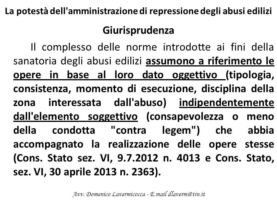 La responsabilità penale ed il titolo edilizio Interventi edilizi e relativi titoli Interventi liberi (art.