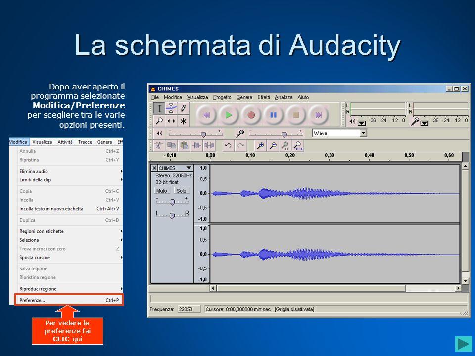 Strumento di spostamento temporale Questo strumento permette spostare una traccia audio avanti o indietro nel tempo.