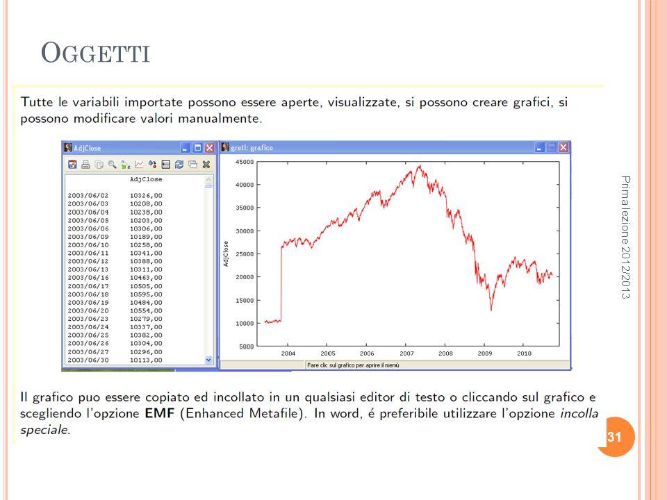 O GGETTI Prima lezione 2012/2013 31