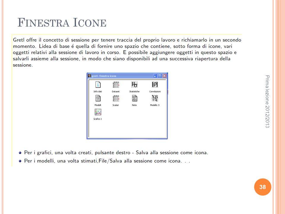 F INESTRA I CONE Prima lezione 2012/2013 38