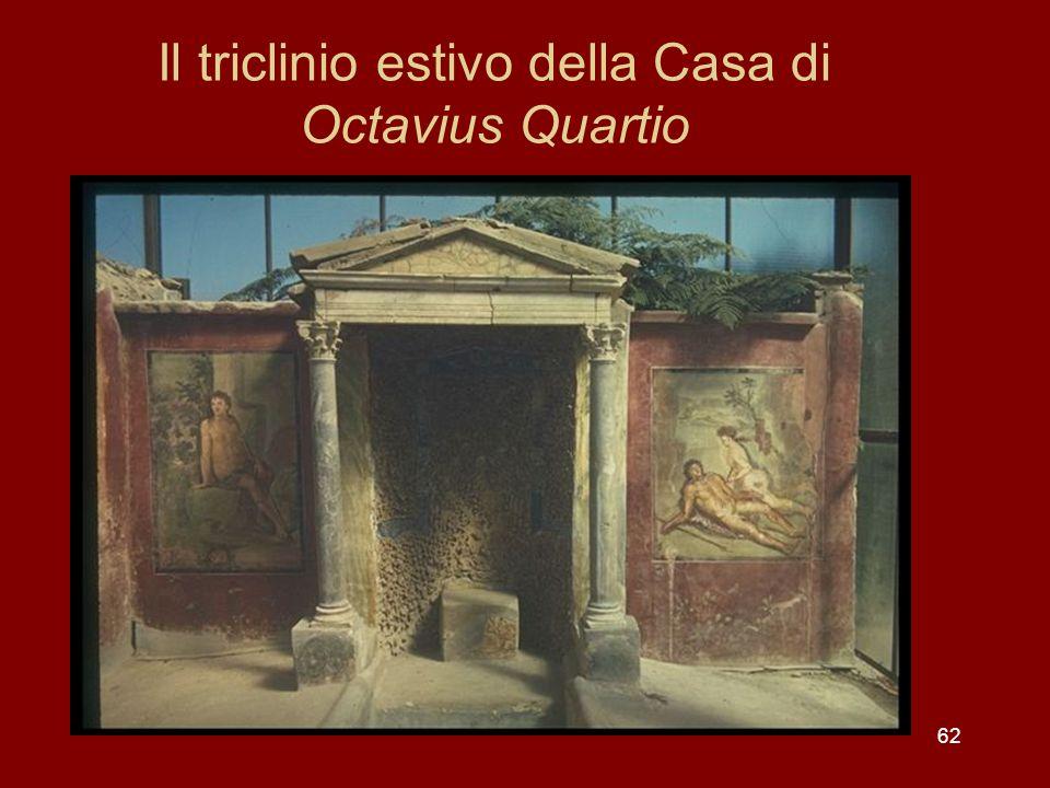 Il triclinio estivo della Casa di Octavius Quartio 62