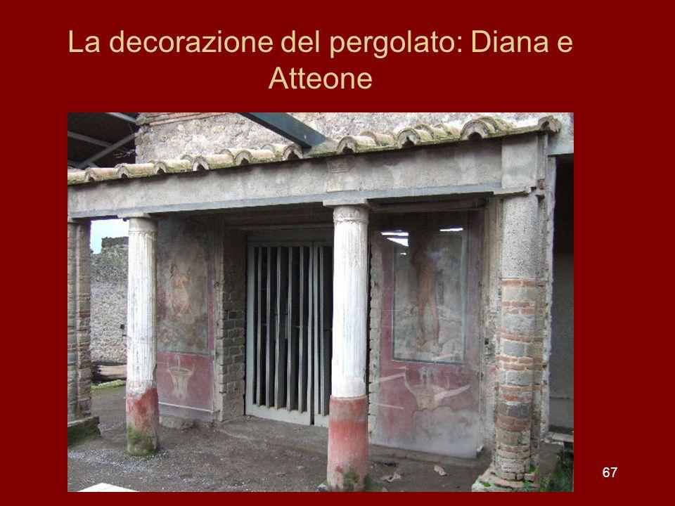 La decorazione del pergolato: Diana e Atteone 67