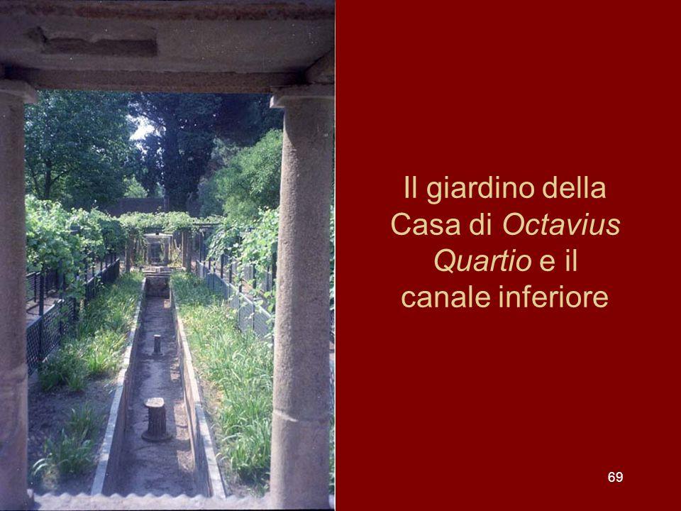Il giardino della Casa di Octavius Quartio e il canale inferiore 69