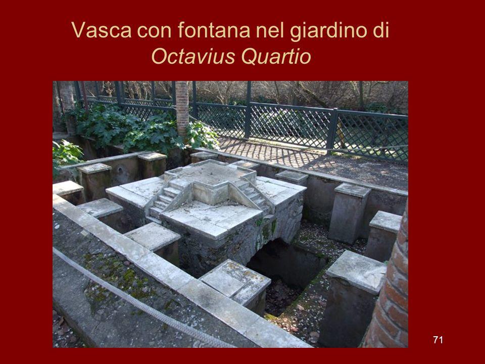 Vasca con fontana nel giardino di Octavius Quartio 71